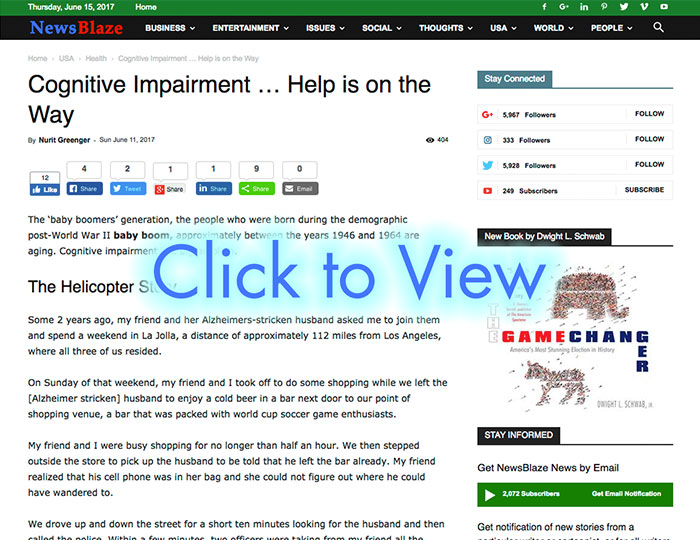 Combating Dementia NewsBlaze c2v